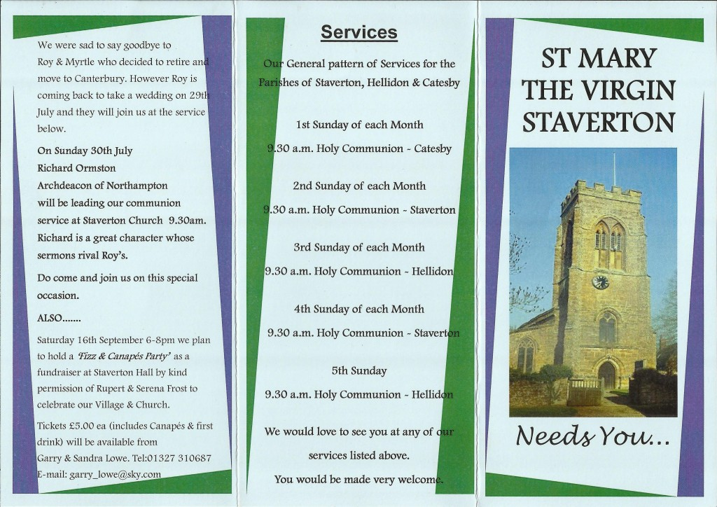 Church Leaflet 2